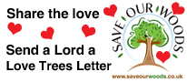 Love Trees Letter Button