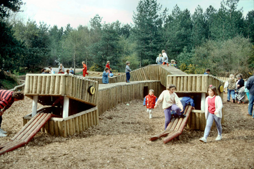 20 years of active kids – the 'Snake Pit' at Moors Valley in 1990 – since then millions of chidren have thrilled to the active outdoors