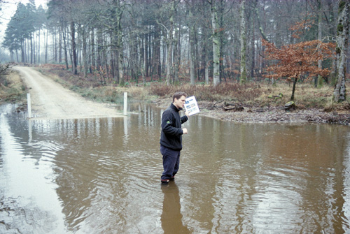 Forestry Commission ecologist Simon Weymouth tames the flood in the New Forest as river restoration and forest trees slow peak flows